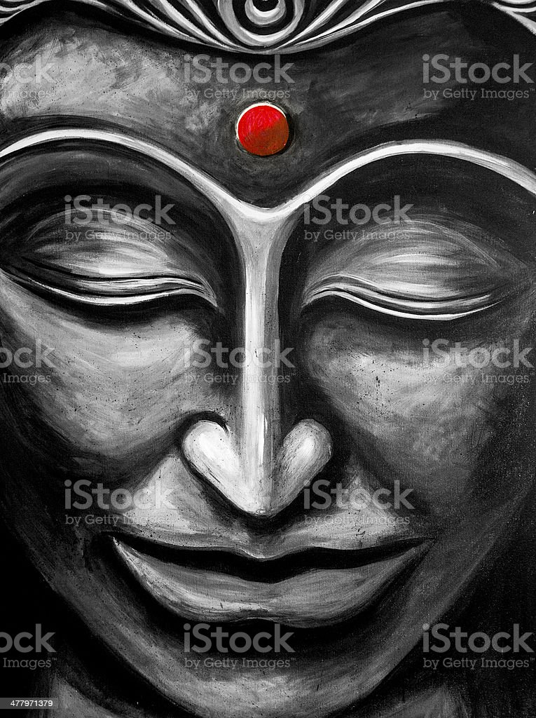 Fine Art Buddha Painting Stock Illustration - Download Image