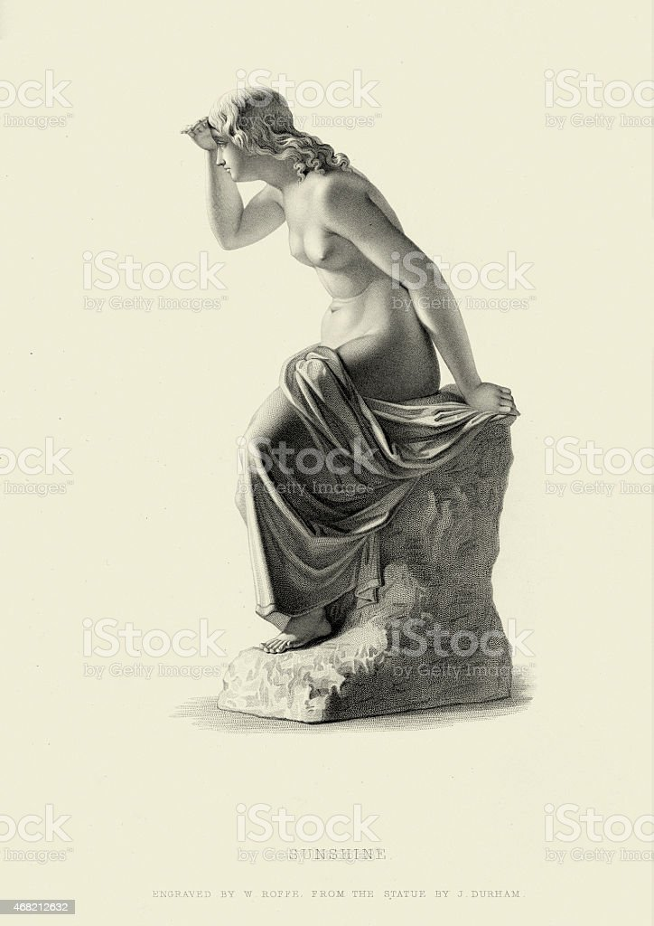 Fine Art Statue - Sunshine by J Durham vector art illustration