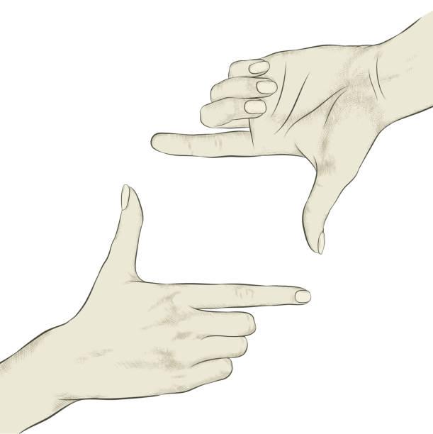 Finger Frame – Vektorgrafik