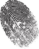 A black and white fingerprint is distressed. Please check out my other images :)