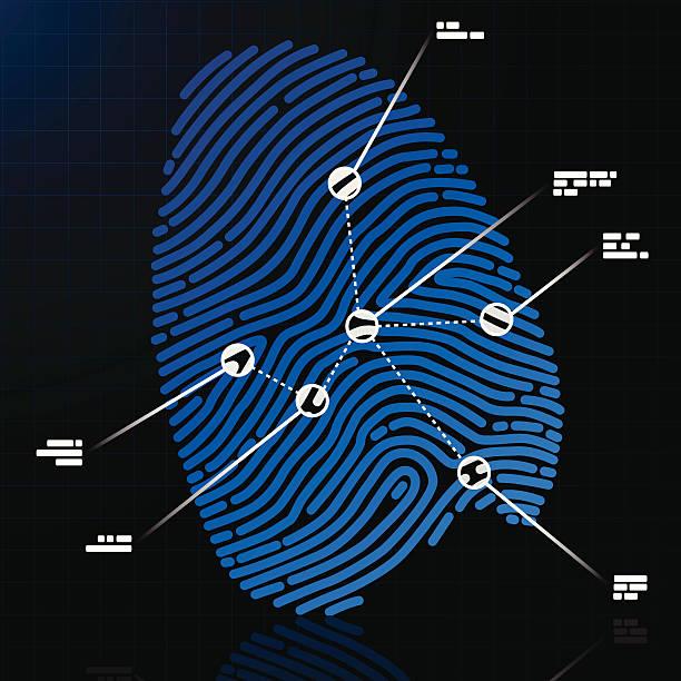 指紋 - id盗難点のイラスト素材/クリップアート素材/マンガ素材/アイコン素材
