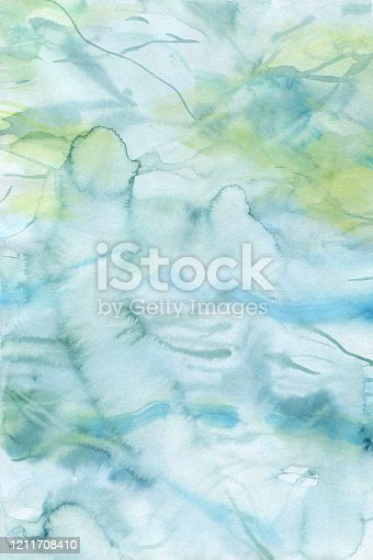 605740894 istock photo finished image of a watercolor background with a gradient of blue and yellow 1211708410