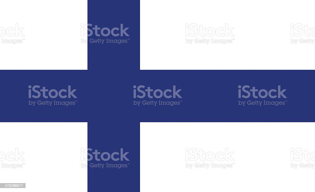 フィンランド旗 ベクターアートイラスト