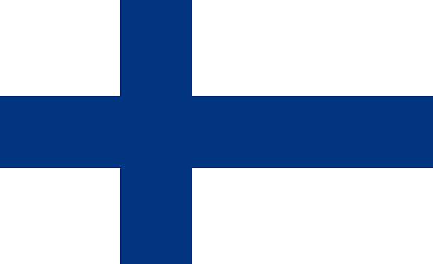 フィンランド旗 - フィンランドの国旗点のイラスト素材/クリップアート素材/マンガ素材/アイコン素材