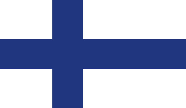 finland flag - finnish flag stock illustrations, clip art, cartoons, & icons
