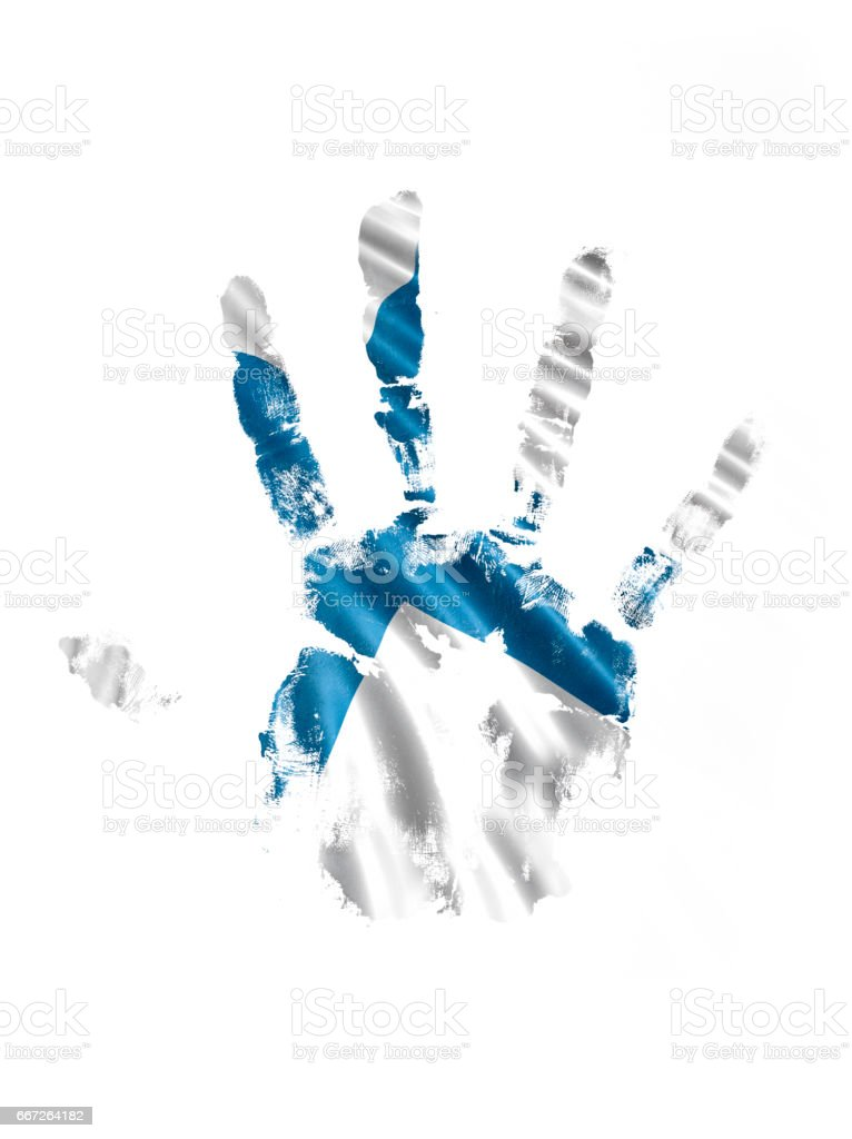 Finland Hand Print Flag vector art illustration
