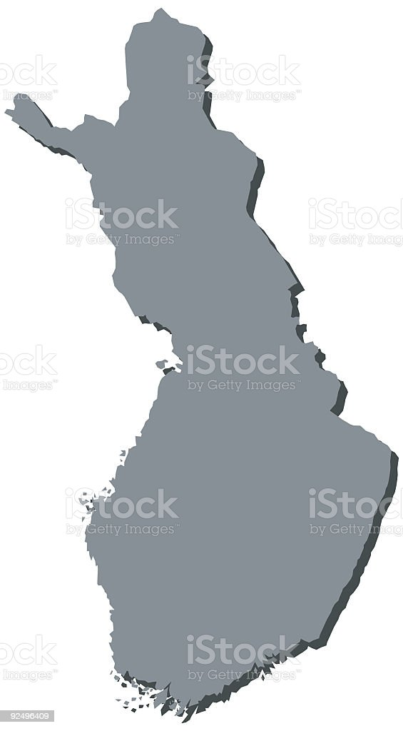 Finland Map Finnish Maps royalty-free stock vector art