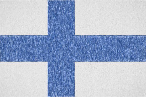 Peint le drapeau de la Finlande - Illustration vectorielle