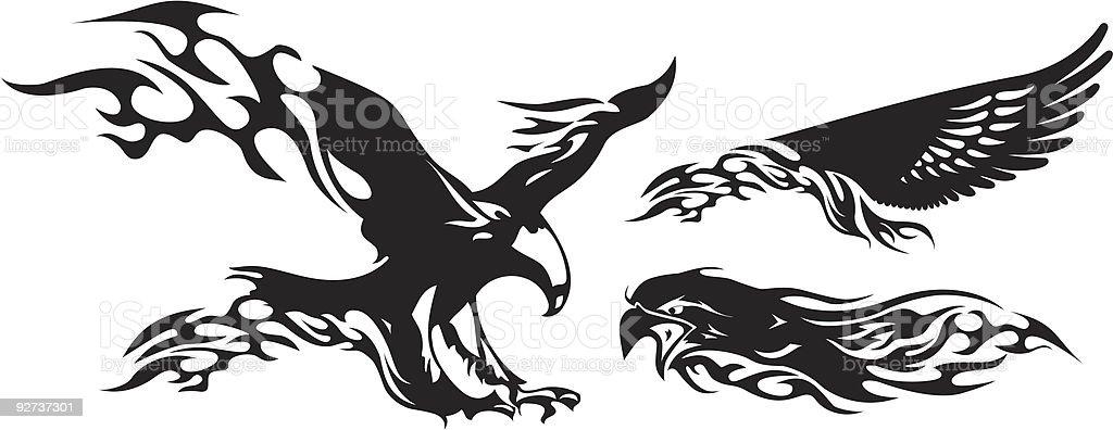 Fire Eagle. Lizenzfreies fire eagle stock vektor art und mehr bilder von adler