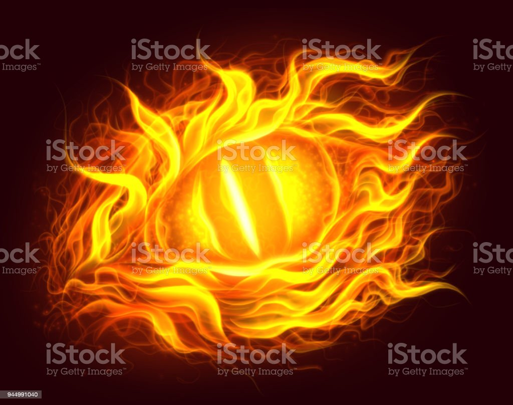 Fire Eye Stock Vector Art More Images Of Animal 944991040 Istock