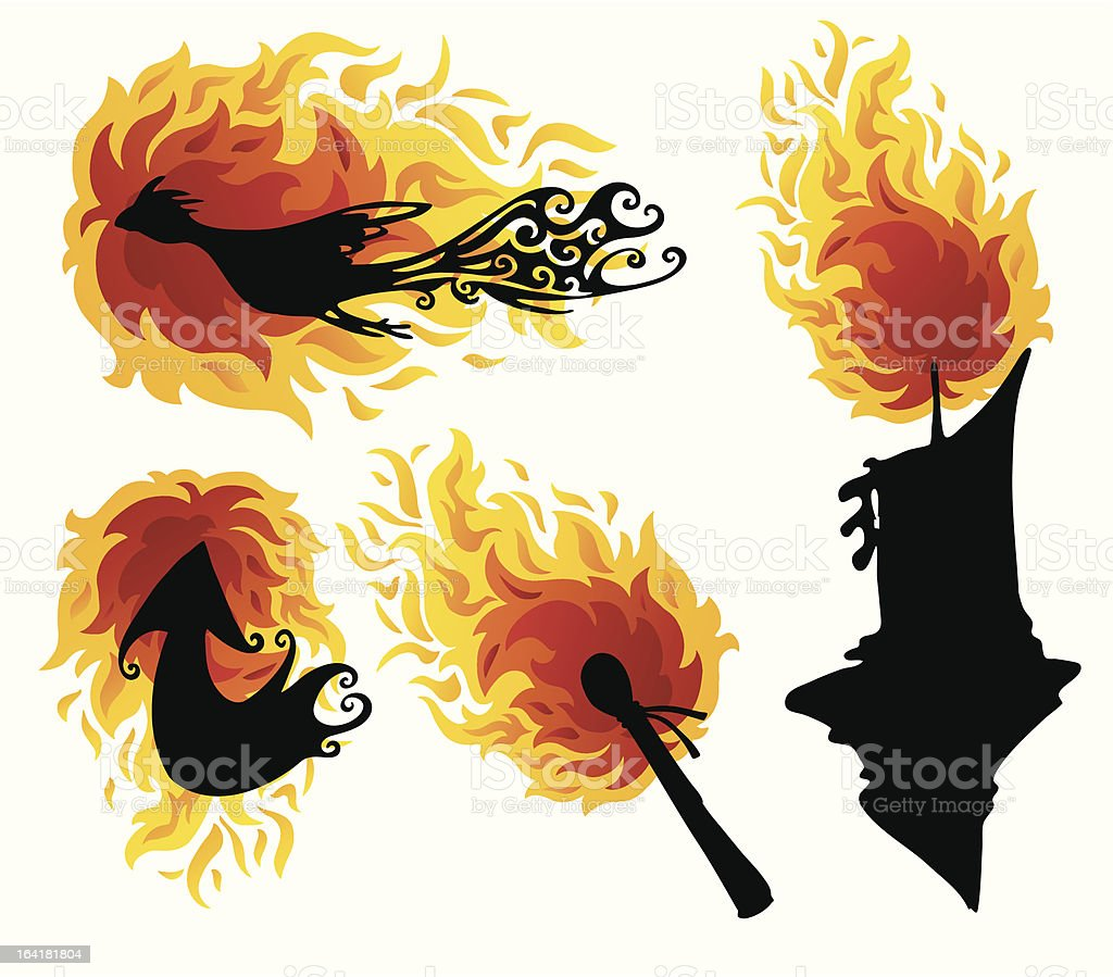 Fire Figures royalty-free stock vector art