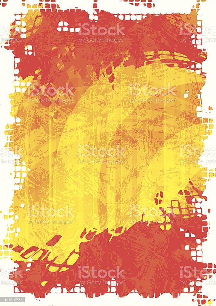 Fire frame vector art illustration