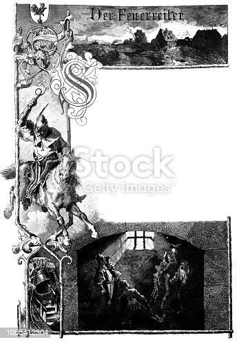 Fire horseman - Halloween theme - 1888