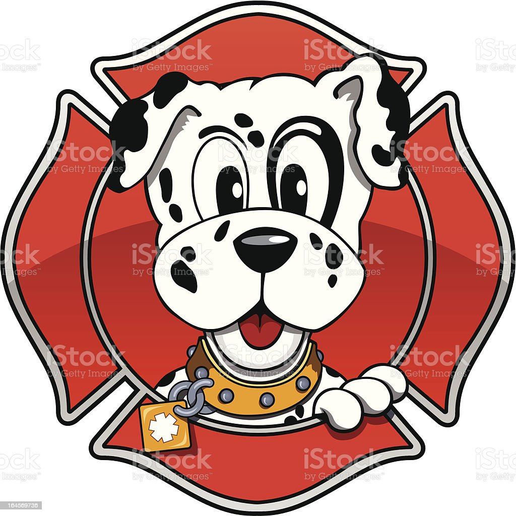 Fire House Puppy royalty-free stock vector art