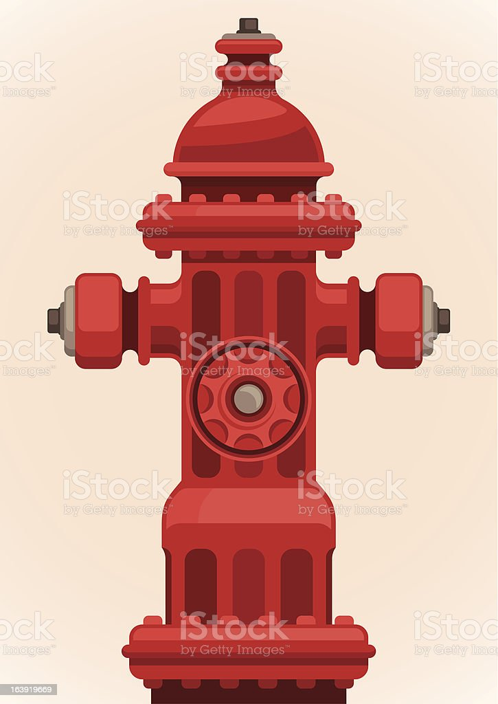 Fire hydrant. Vector illustration.