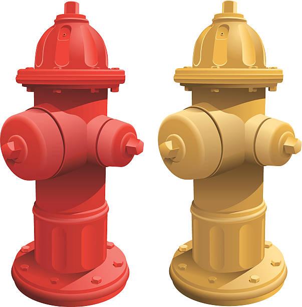 Fire Hydrants vector art illustration
