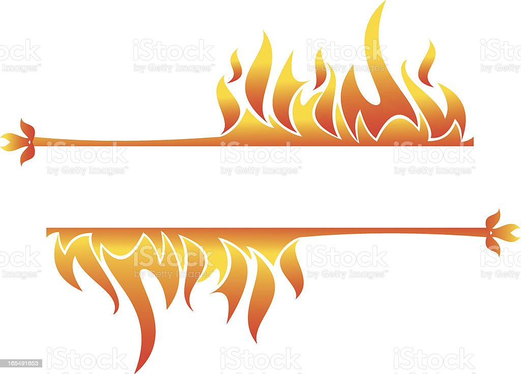 Fire ornament royalty-free stock vector art