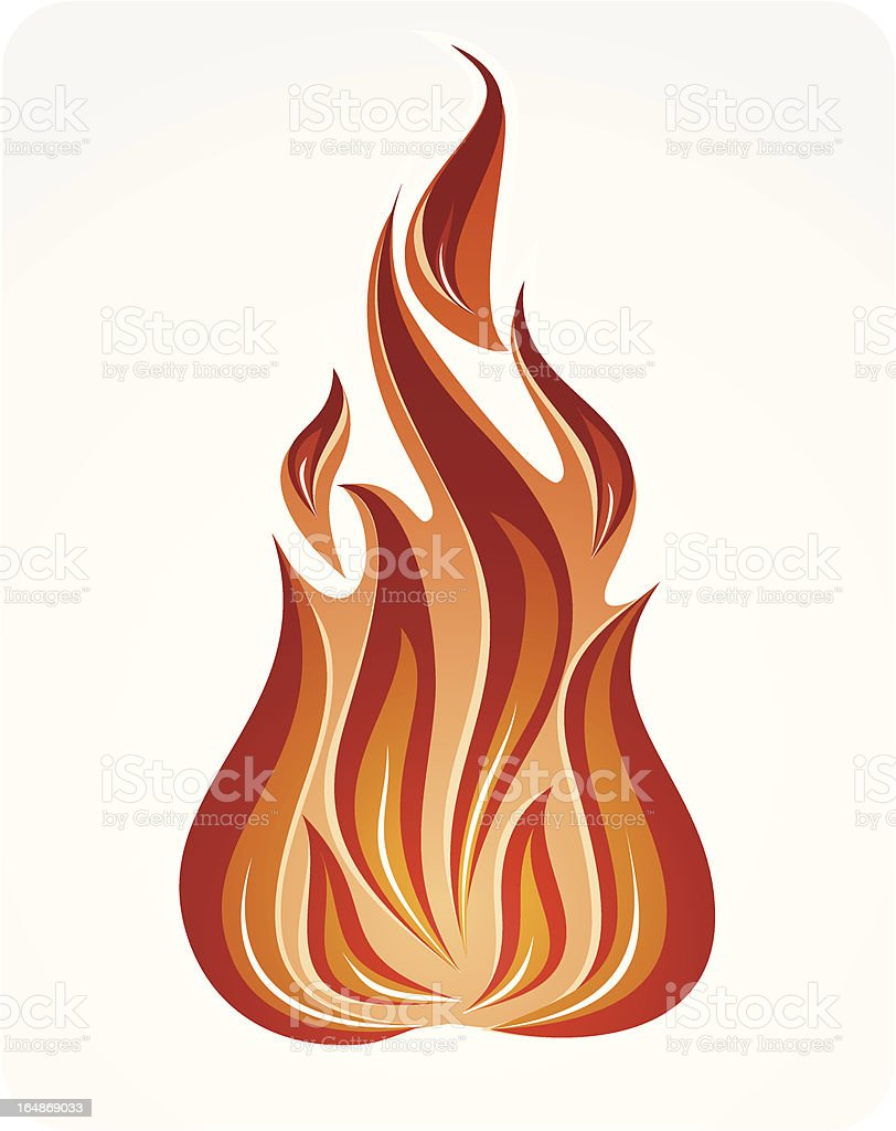'Fire' symbol - vector illustration royalty-free stock vector art