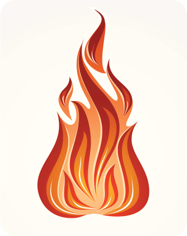 Fire Symbol Vector Illustration Stock Illustration - Download Image Now