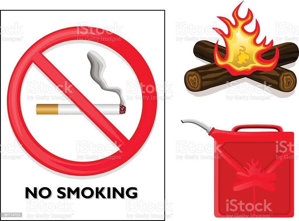 Fire Symbols (Vector) royalty-free stock vector art
