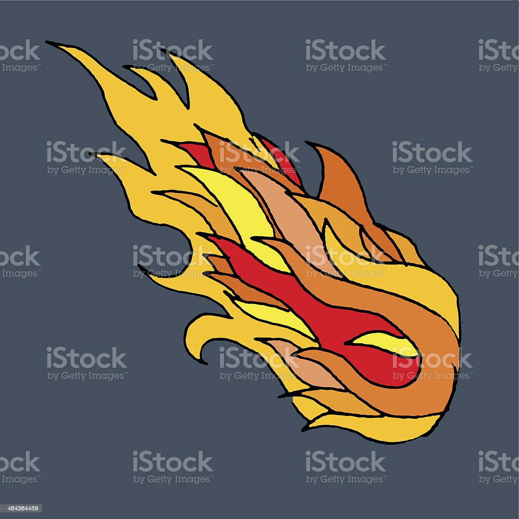 Fireball royalty-free stock vector art