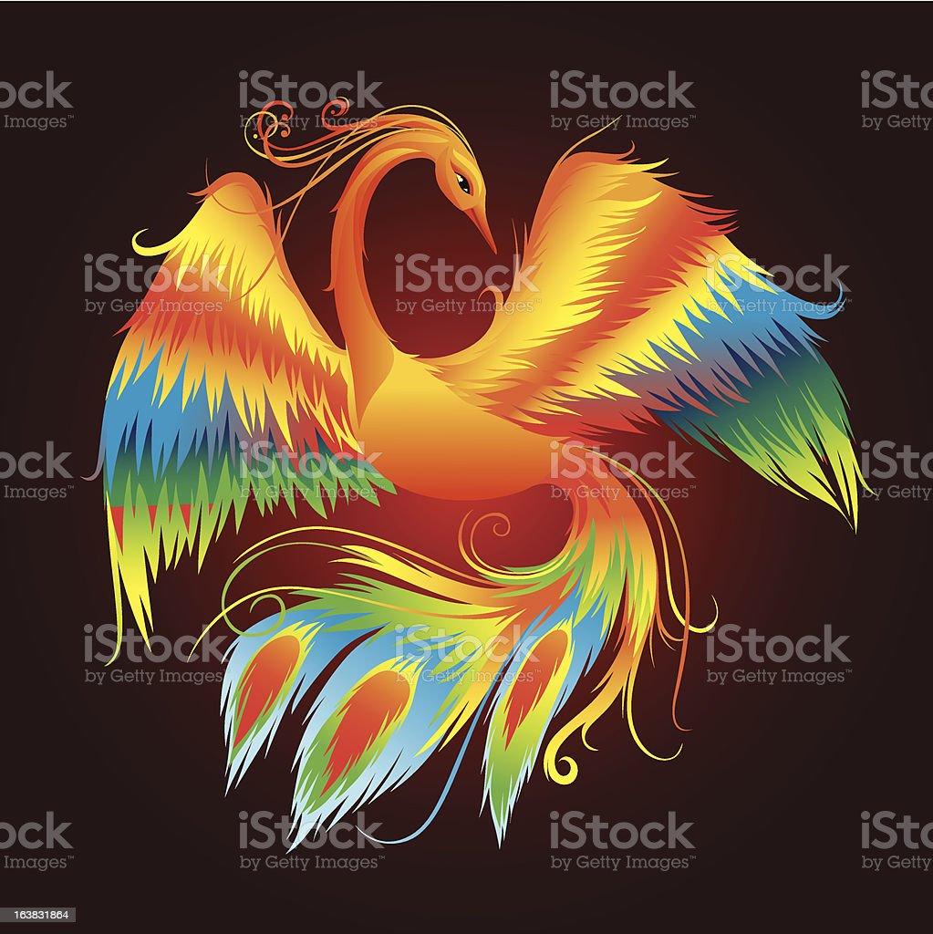 Firebird royalty-free stock vector art