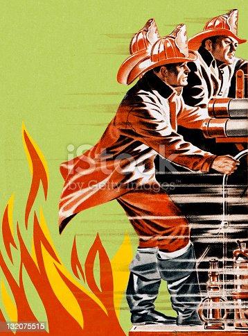 Fireman on Firetruck
