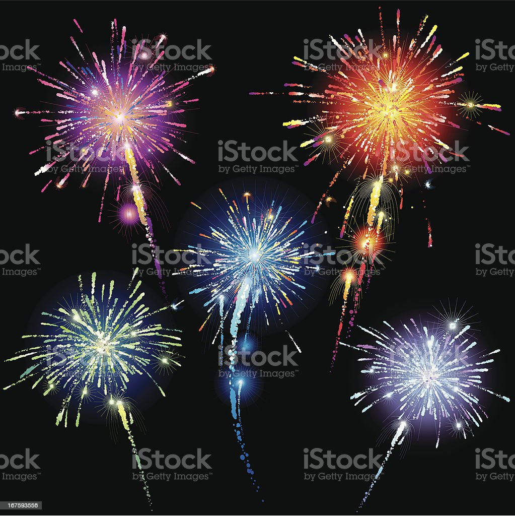 Fireworks royalty-free fireworks stock vector art & more images of anniversary