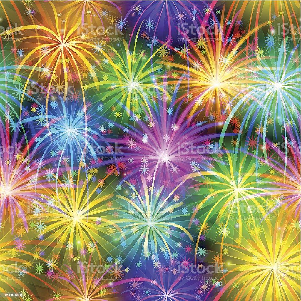 Fireworks, seamless royalty-free stock vector art