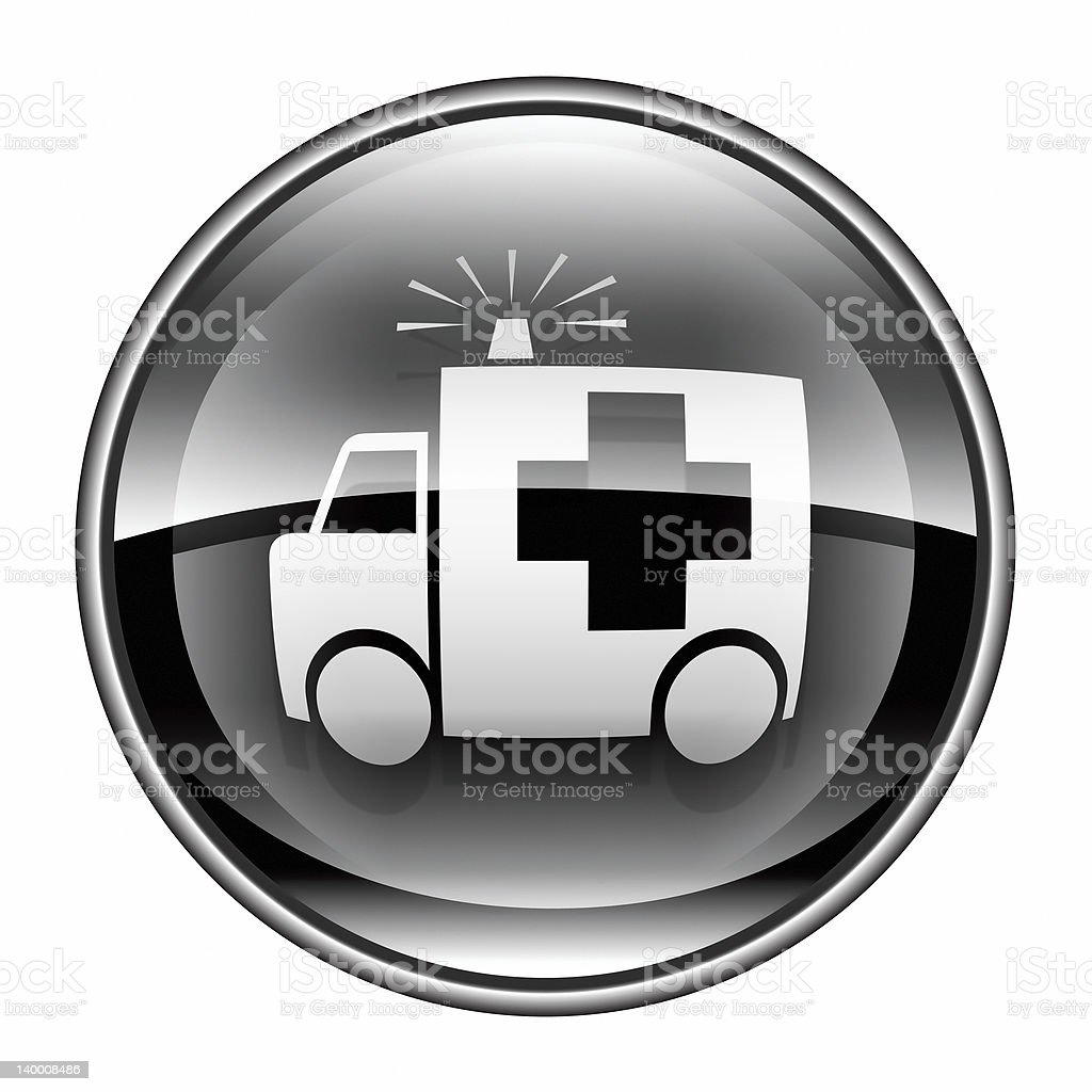 First aid icon black, isolated on white background. royalty-free stock vector art