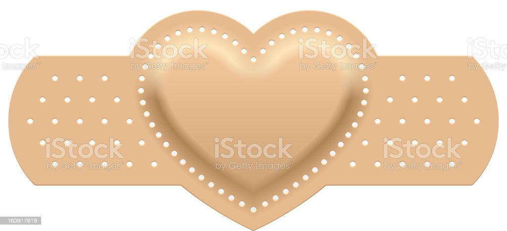 First aid with love vector art illustration