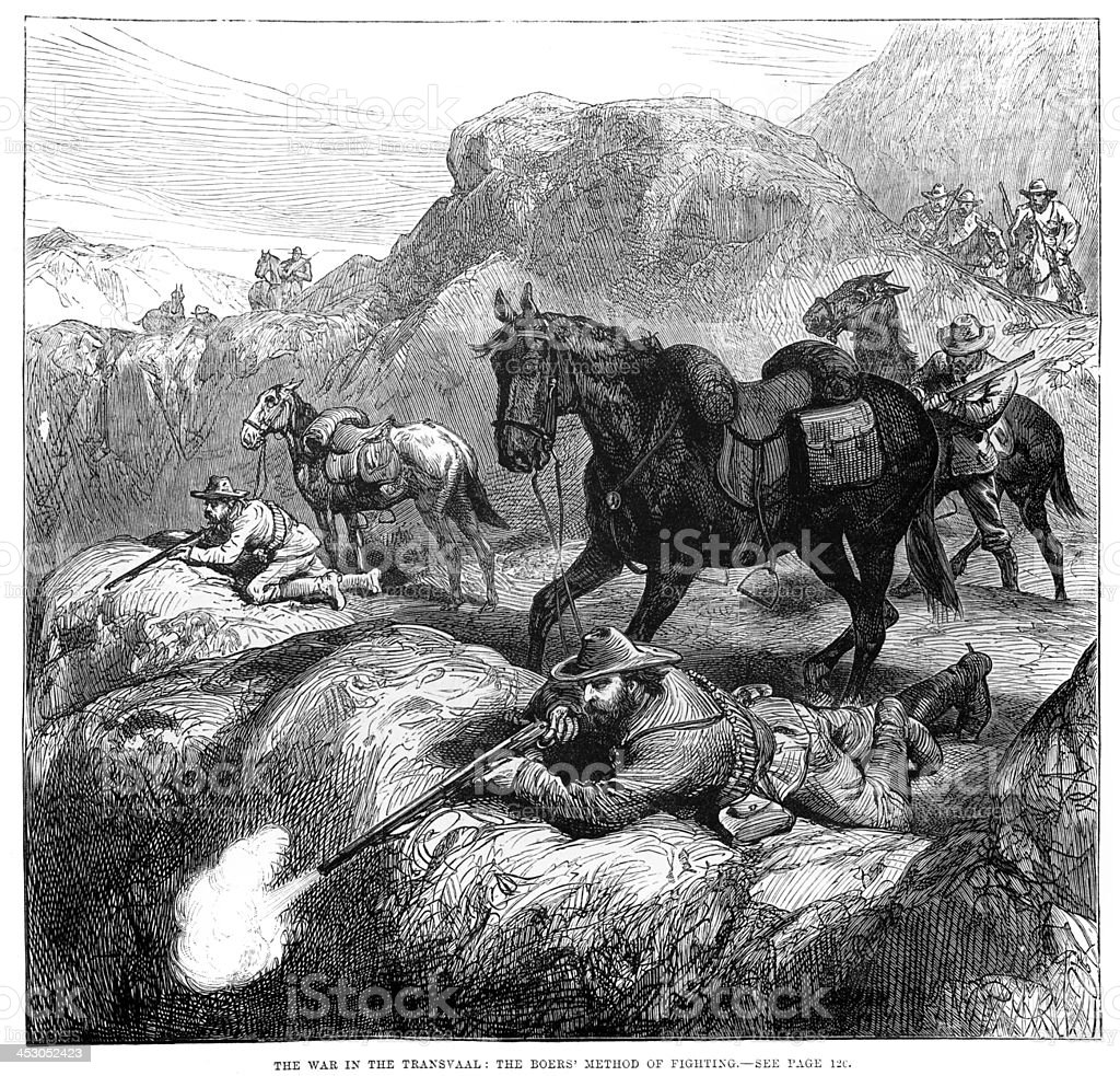 First Boer War vector art illustration