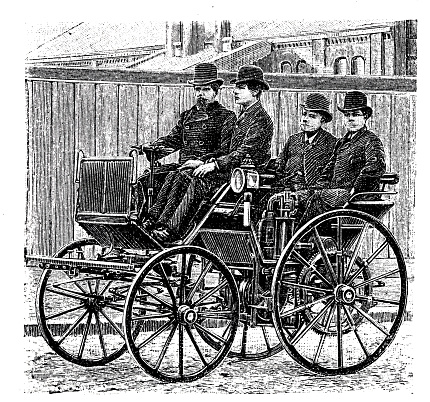 First car on the road with an Engine of Daimler