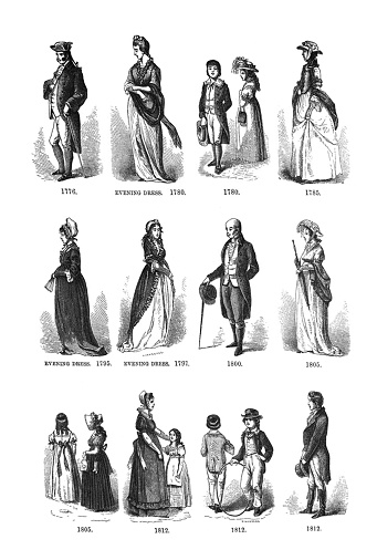First Century United States illustrations - 1873 - Fashions from 1776 to 1812