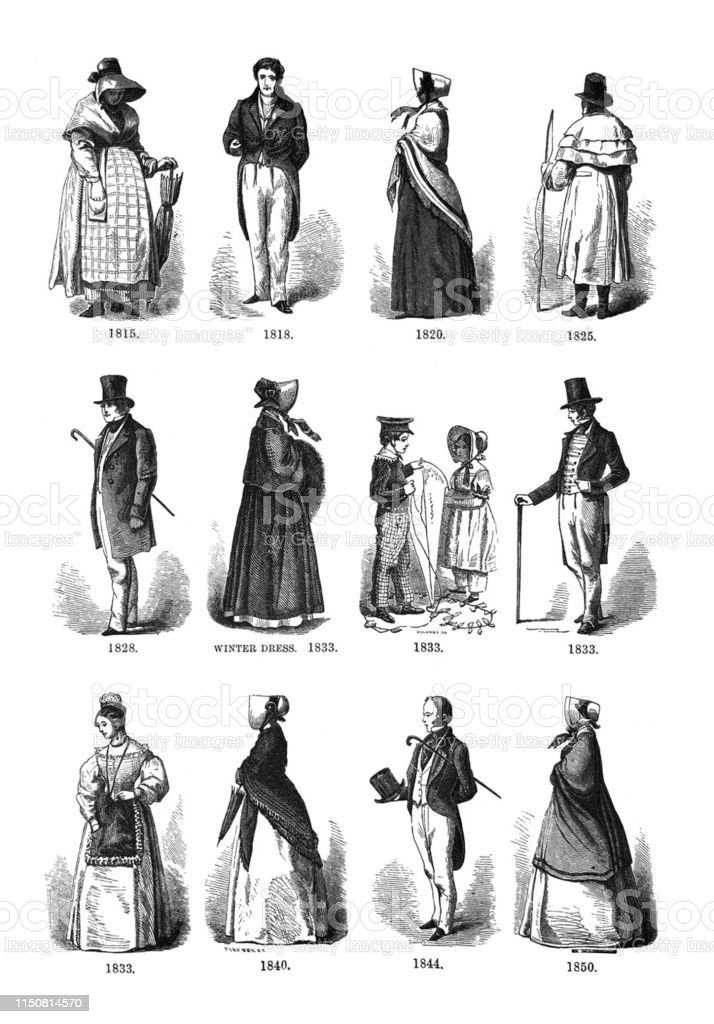 First Century United States Illustrations 1873 Fashions From 1815 ...