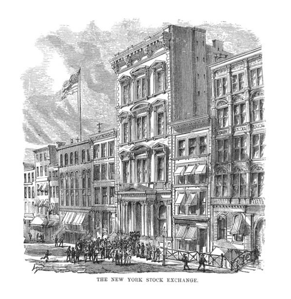 First Century United States illustrations - 1873 - New York Stock Exchange From First Century of National Existence; The United States - 1873 wall street stock illustrations