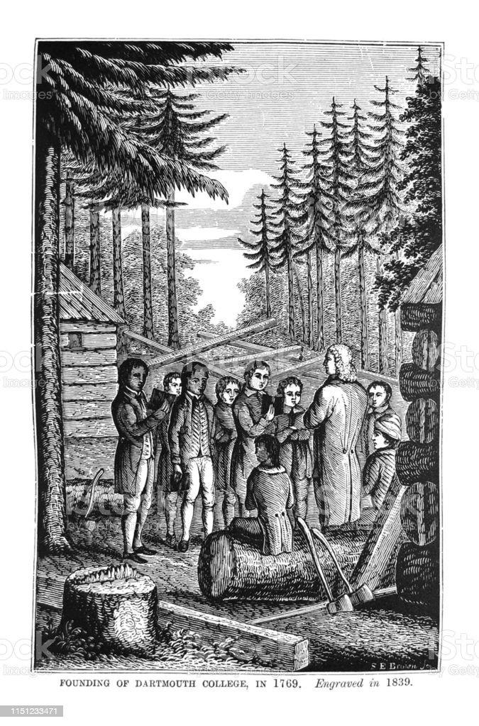 1世紀アメリカのイラスト1769 年に Darmouth 大学の創設 - 1873年の ...