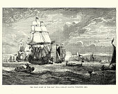 istock First fleet of the East India Company leaving Woolwich, 1601 892771070