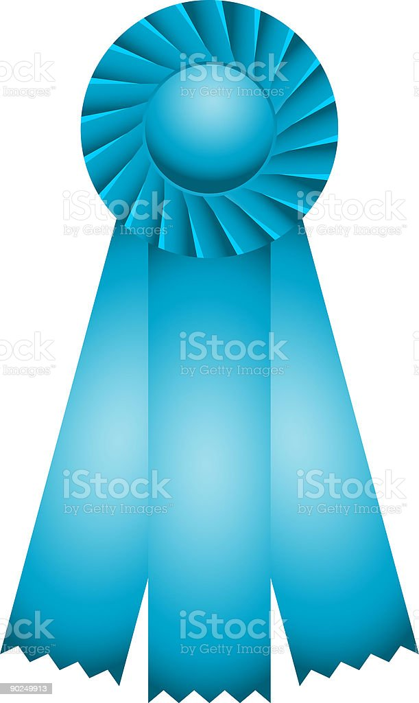 First Place Ribbon vector art illustration