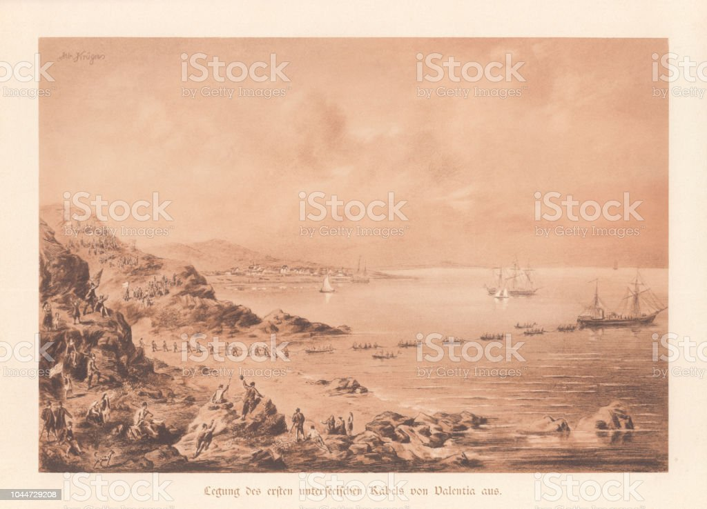 ATLANTIC TELEGRAPH TRINITY BAY NEWFOUNDLAND NAUTICAL SHIPS TELEGRAPH HISTORY