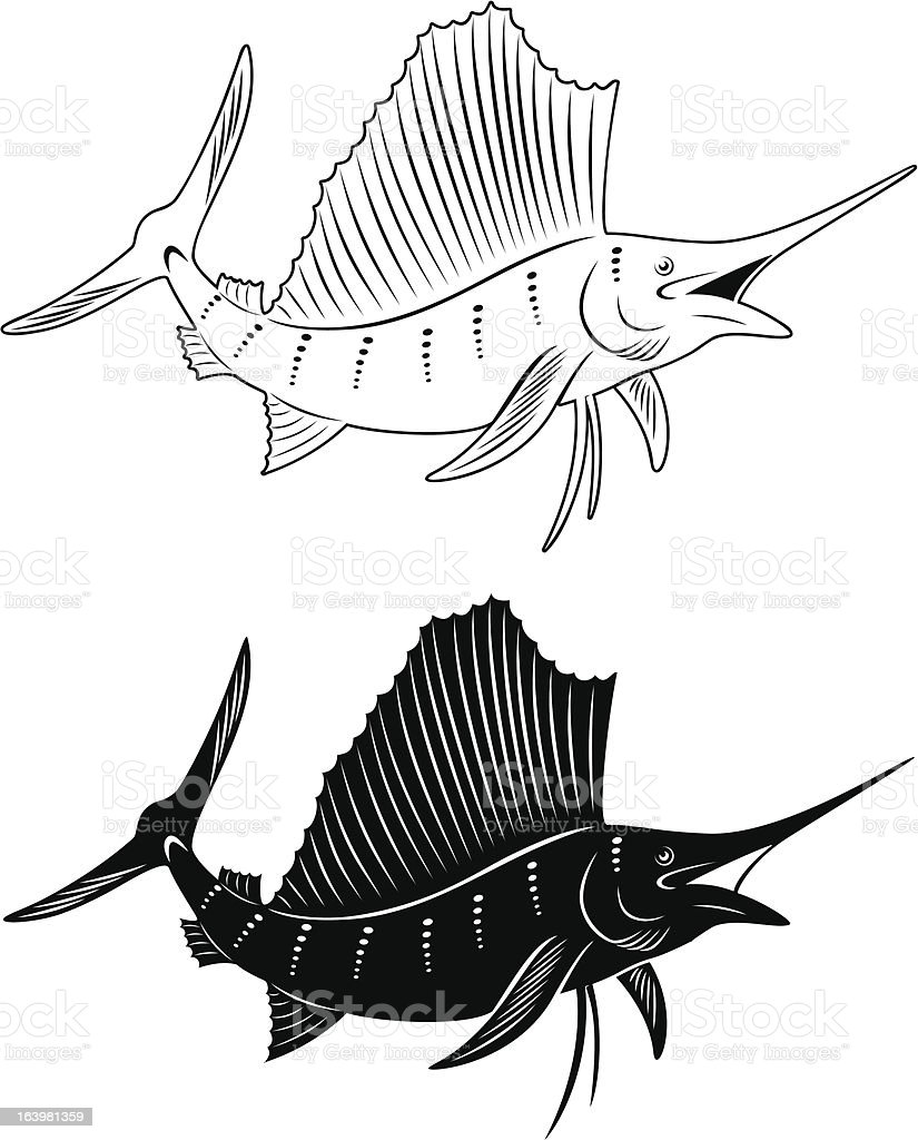 Royalty Free Black Marlin Clip Art, Vector Images