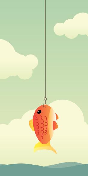 Fische Am Haken Stock Vektor Art und mehr Bilder von Angelhaken