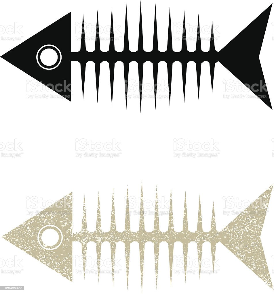 Fish skeleton royalty-free stock vector art