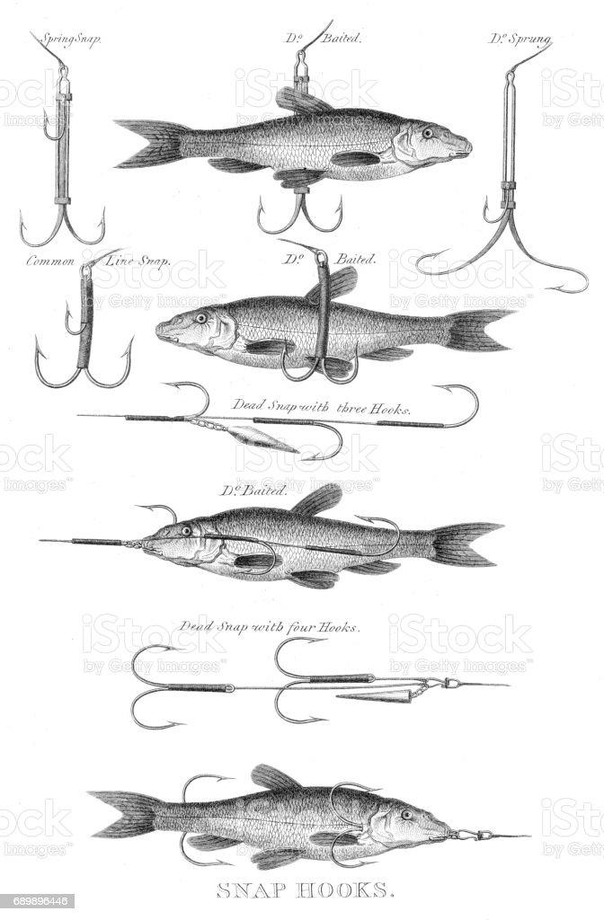 Fische Fangen Haken Gravur 1812 Stock Vektor Art und mehr Bilder von ...