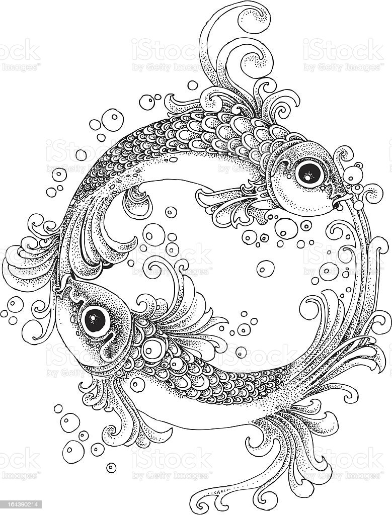 Fish vignette royalty-free stock vector art