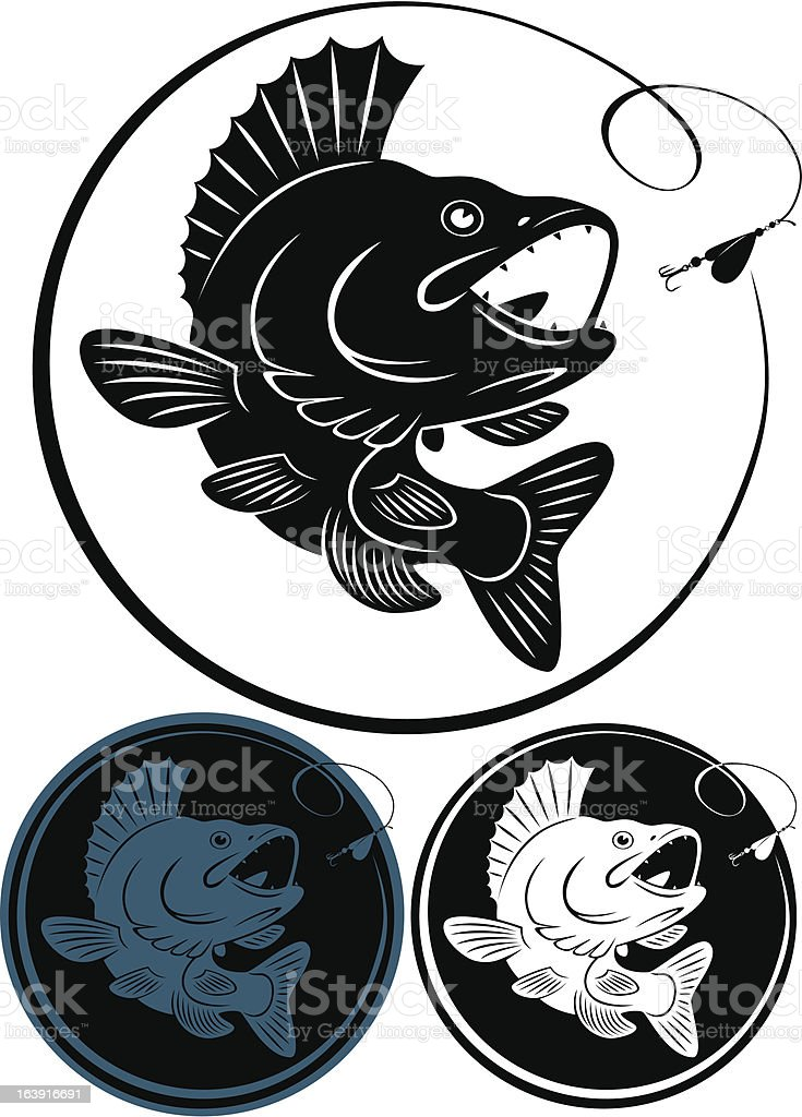 fish walleye royalty-free stock vector art