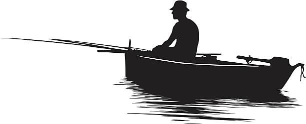 漁師のシルエット - 漁師点のイラスト素材/クリップアート素材/マンガ素材/アイコン素材