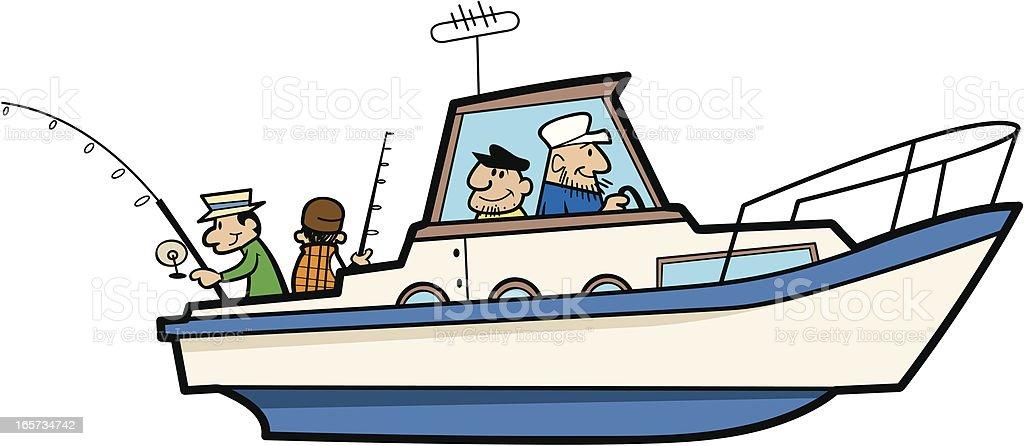 fishing boat stock vector art more images of adult 165734742 istock rh istockphoto com cartoon fishing boat images fishing boat cartoon clip art