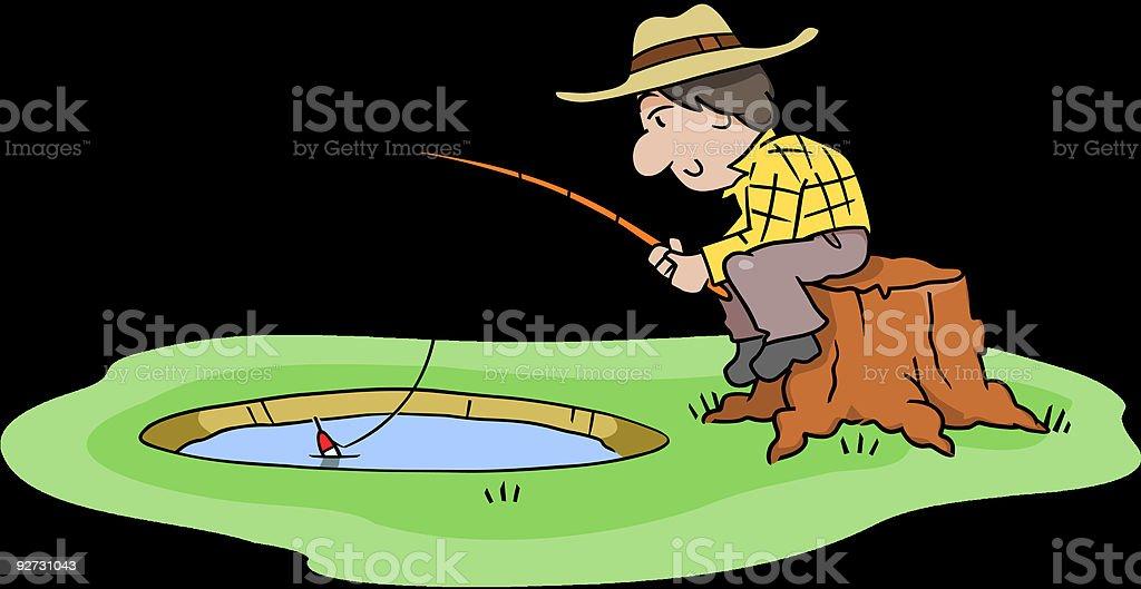 Fishing Hole royalty-free stock vector art