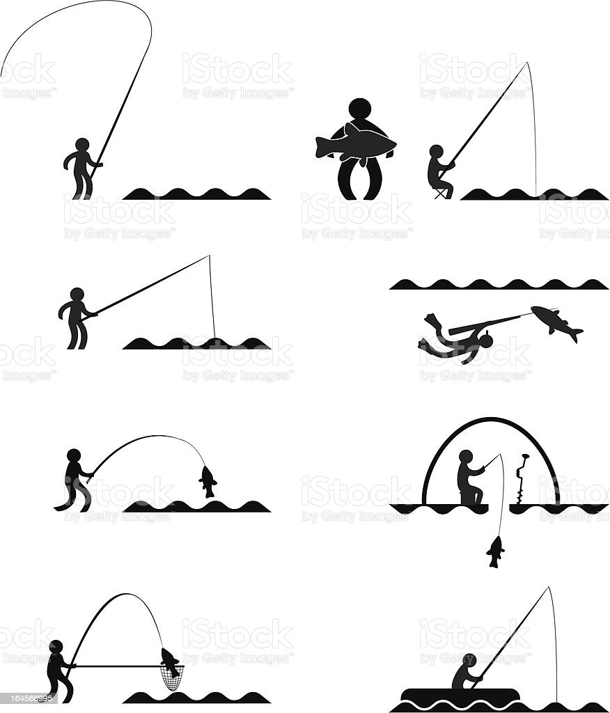 Fishing royalty-free fishing stock vector art & more images of adult